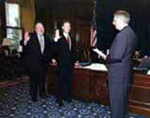 Georgia Governor swearing in Randy Murray