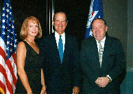 Randy and Gloria Murray with former Secretary of State James Baker III